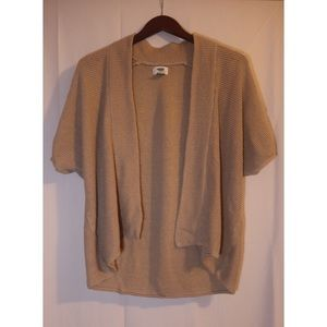 Sweaters - Short-sleeved Tan Sweater